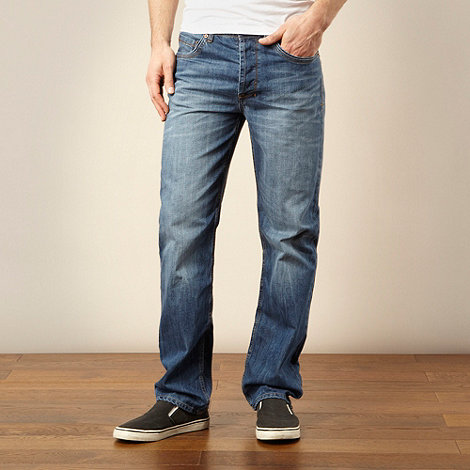 Mantaray - Big and tall mid blue straight leg jeans