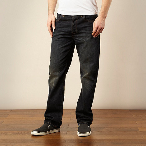Mantaray - Big and tall dark blue straight leg jeans