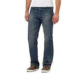 Mantaray - Blue vintage wash loose fit jeans