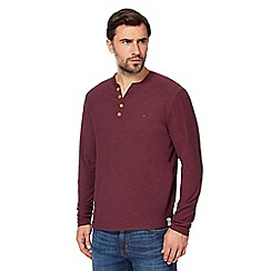 Mantaray - Big and tall dark red y neck top