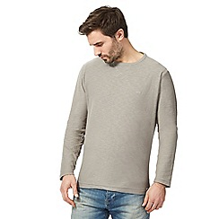 Mantaray - Grey textured crew neck top