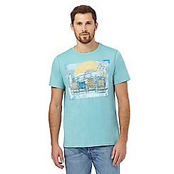 Mantaray - Big and tall aqua camper van print t-shirt