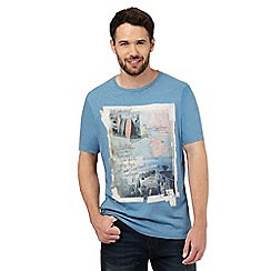 Mantaray - Blue graphic print t-shirt