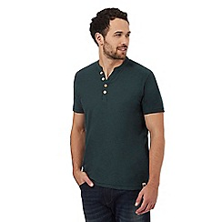Mantaray - Dark green Y neck t-shirt