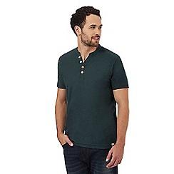Mantaray - Dark green Y neck t-shirt