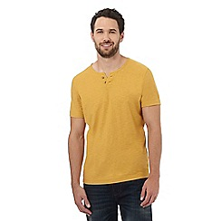 Mantaray - Big and tall dark yellow y neck t-shirt