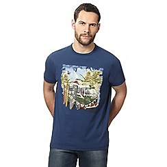 Mantaray - Big and tall navy campervan print t-shirt