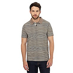 Mantaray - Natural textured striped polo shirt
