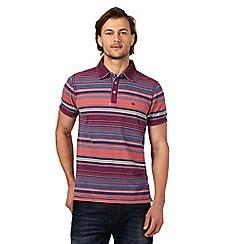 Mantaray - Big and tall multi-coloured striped polo shirt