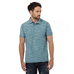 Mantaray - Big and tall dark turquoise birdseye textured polo shirt