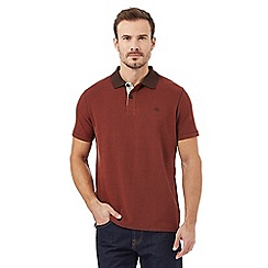 Mantaray - Big and tall dark orange textured polo shirt