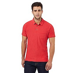 Mantaray - Big and tall red space dye textured polo shirt