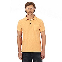 Mantaray - Orange marl textured polo shirt