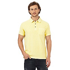 Mantaray - Yellow marl textured polo shirt