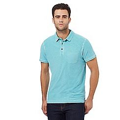 Mantaray - Turquoise space dye textured polo shirt