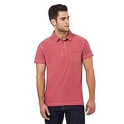 Mantaray - Pink space dye textured polo shirt