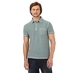 Mantaray - Khaki marl textured polo shirt