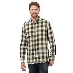 Mantaray - Green check long sleeve shirt