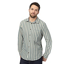 Mantaray - Green triple striped regular shirt
