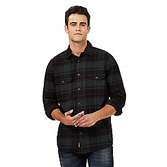 Mantaray - Big and tall green checked print regular fit shirt