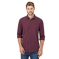 Mantaray - Purple basketweave texture shirt