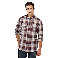 Mantaray - Big and tall red checked print regular fit shirt