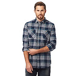 Mantaray - Grey grindle checked regular fit shirt