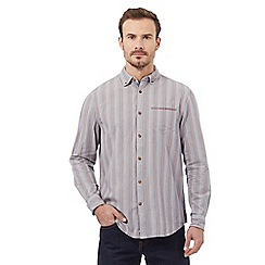 Mantaray - Multi-coloured textured striped shirt