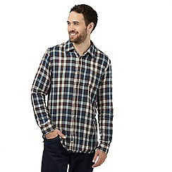 Mantaray - Brown check print casual shirt