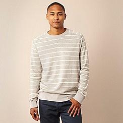 Mantaray - Grey marl striped sweatshirt