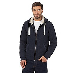 Mantaray - Big and tall navy zip through hoodie