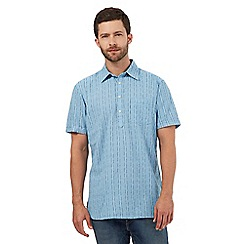 Mantaray - Big and tall blue textured stripe shirt