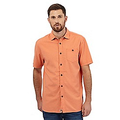 Mantaray - Big and tall orange textured basketweave shirt