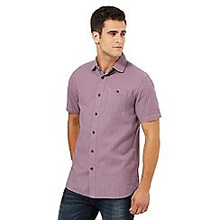 Mantaray - Purple basket weave shirt