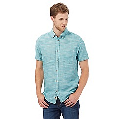Mantaray - Big and tall turquoise marl regular fit shirt