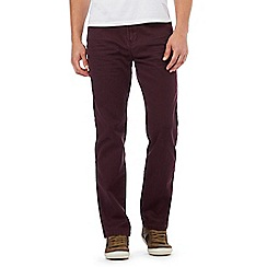 Mantaray - Dark red straight leg trousers