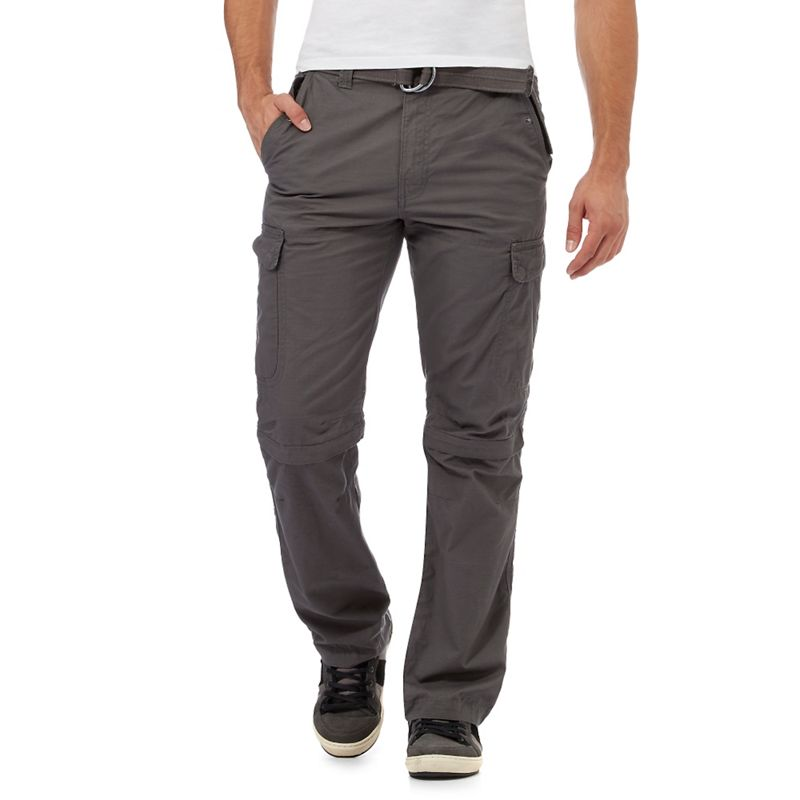 Mantaray Dark grey zip off cargo trousers
