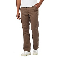Mantaray - Big and tall brown straight leg chino trousers