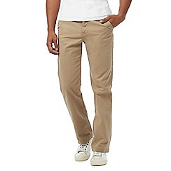Mantaray - Big and tall taupe straight leg chino trousers