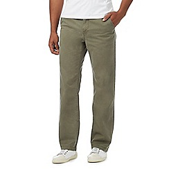 Mantaray - Big and tall khaki straight leg chino trousers