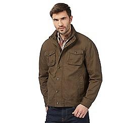 Mantaray - Big and tall brown harrington jacket