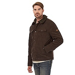 Mantaray - Big and tall brown harrington jacket