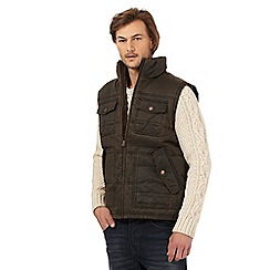Mantaray - Brown padded waxed gilet