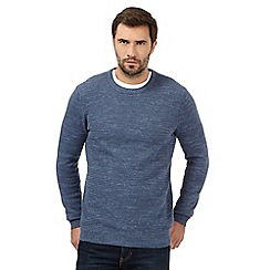 Mantaray - Big and tall pale blue marl crew neck jumper