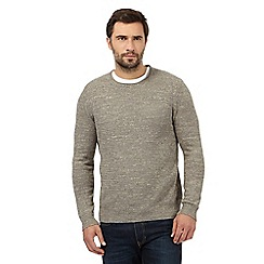 Mantaray - Big and tall cream marl crew neck jumper