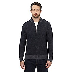 Mantaray - Navy funnel neck jumper