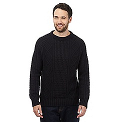 Mantaray - Navy cable knit jumper