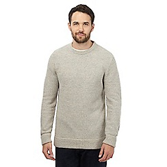 Mantaray - Big and tall cream twist knit jumper with wool