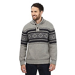 Mantaray - Grey ribbed knit jumper