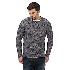 Mantaray - Big and tall grey boucle knit crew neck jumper